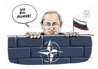 Saebelrasseln gegen Putin : NATO ruestet im Osten auf
