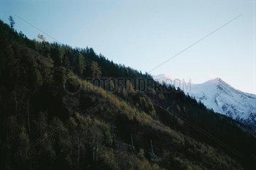 Hillside in mountain landscape