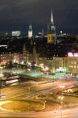 Sweden  Sodermanland  Stockholm  Slussen  night scene
