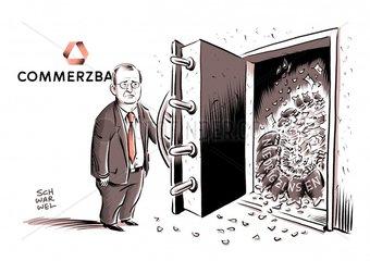 Commerzbank: Niedrigzinsen fressen Gewinne