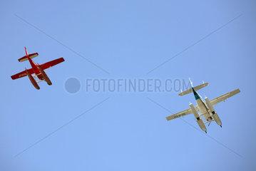 Rostock  Deutschland  Wasserflugzeuge in der Luft