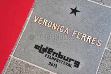 Oldenburg  Deutschland  Stern von Veronica Ferres  Schauspielerin  am Oldenburger Walk Of Fame