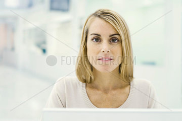 Woman looking at camera  portrait