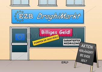 Draghimarkt EZB Verlaengerung billiges Geld