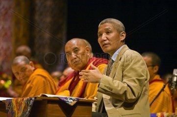 Interpretor for the 14th DALAI LAMA of Tibet at a Buddhist teaching sponsored by the TIBETAN MONGOLIAN CULTURAL CENTER