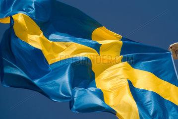 Frankreich  wehende schwedische Nationalflagge