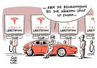 Elektromobilitaet mit Tesla Model S : Serienautos mit groesseren Batterien