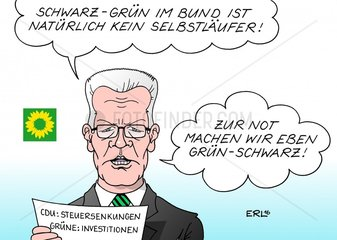Bundestagswahl 2017 Schwarz-Gruen im Bund Steuerueberschuesse