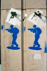 Armee Streetart in Basel.