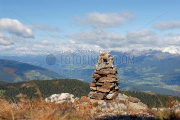 Italien  Kronplatz im Pustertal mit Blick auf die Dolomiten