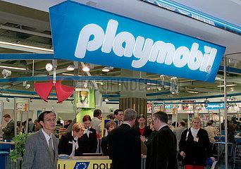 Nuernberg  Spielwarenmesse - Messestand von Playmobil