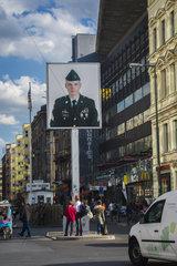 Checkpoint Charlie in Berlin  Deutschland