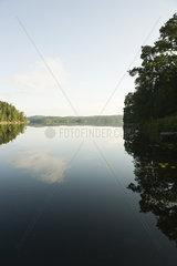 Tranquil lake scene