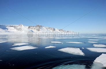 Ilulissat  Daenemark  Eisschollen in der Diskobucht