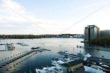 Sweden  Stockholm  Lake Malaren  marina