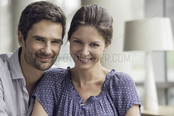 Couple relaxing together at home  portrait
