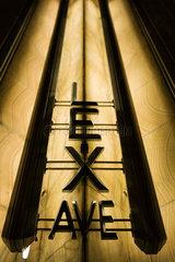 Lexington avenue sign in the Chrysler Building lobby  Manhattan  New York City