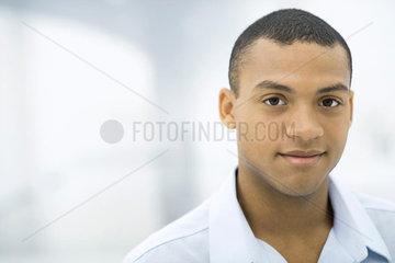 Man smiling at camera  portrait