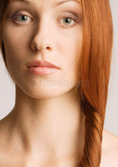 Woman with hair to the side  portrait