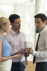 Business associates conversing