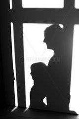 Shadow of parent and child