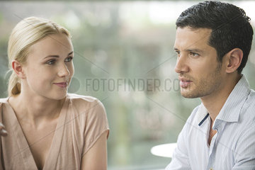 Woman admiring male companion