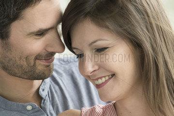 Affectionate couple  portrait