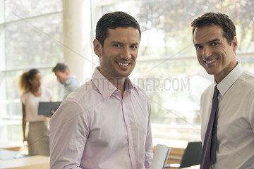 Business associates  portrait