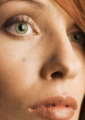 Close-up of woman's face