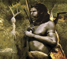 A proud Neanderthal hunter from Neander Valley.