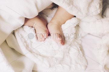 Baby's bare feet