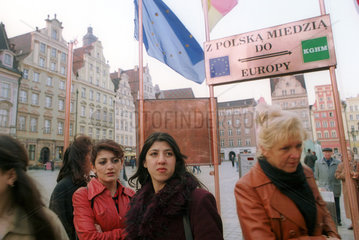 Pro-Europa-Kampagne zum EU-Beitritts-Referendum in Polen
