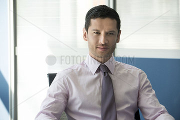 Businessman in office  portrait
