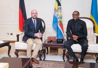 RWANDA-KIGALI-GENOCIDE-COMMEMORATION-BELGIUM-PM