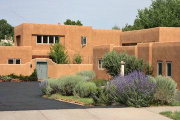 Santa Fe  USA  Einfamilienhaus in Lehmbauweise