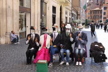 Strassenkuenstler in Rom