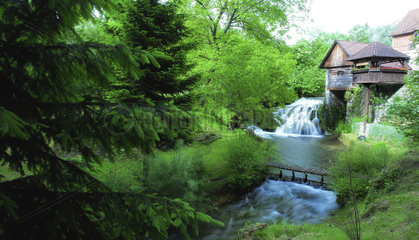 Wasserfall in Rastoke  Kroatien