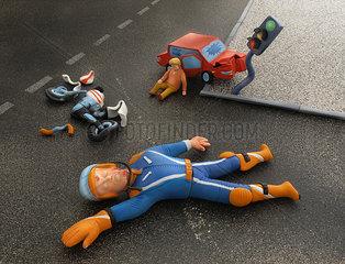 Autounfall an der Kreuzung