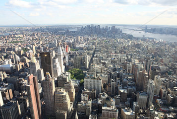 New York City  USA  Blick vom Empire State Building