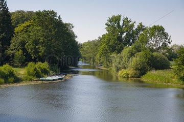 Kluvensiek  Deutschland  Blick auf einen noch erhaltenen Teil des alten Eiderkanals