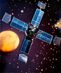 Artist's impression of the American Mariner spacecraft  1964.