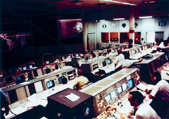 Mission Operations Control Room during the Apollo 10 mission  1969.