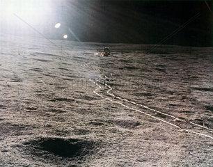 Apollo 14 Lunar Module on the Moon  1971.