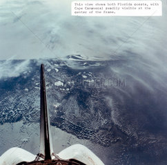 Cape Canaveral  Florida  seen from the Space Shuttle  1980s.