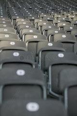 Berlin  Sitzreihen im Olympia-Stadion