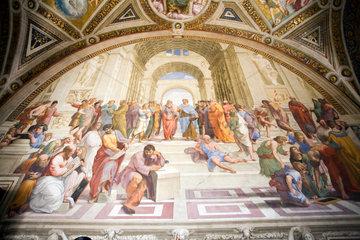 Vatikanstadt  Staat Vatikanstadt  Schule von Athen in der Stanza della Segnatura