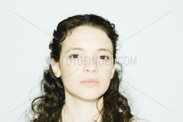 Young woman looking at camera  portrait