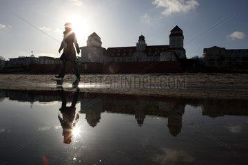 Ruegen  Deutschland  Silhouette des Kurhaus-Hotels in Binz