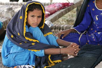 Dadu  Pakistan  Portraet eines Maedchens
