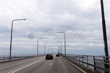 Kalmar  Schweden  die Oelandsbron verbindet Kalmar und die Insel Oeland